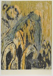 Alison Hildreth. <em>Ecco</em>, ca. 1992. Woodcut, sheet: 25 3/4 x 18 in. (65.4 x 45.7 cm). Brooklyn Museum, Gift of Walter W. Sawyer, 1992.185.8. © artist or artist's estate (Photo: Brooklyn Museum, 1992.185.8_PS4.jpg)