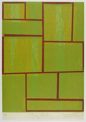 Stewart Hitch (American, 1940-2002). <em>Big Stack</em>, 1992. Woodcut on paper, sheet: 25 3/4 x 17 7/8 in. (65.4 x 45.4 cm). Brooklyn Museum, Gift of Walter W. Sawyer, 1992.185.9. © artist or artist's estate (Photo: Brooklyn Museum, 1992.185.9_PS4.jpg)