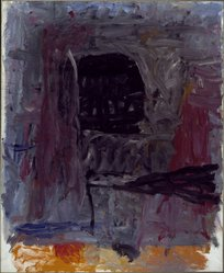 Philip Guston (American, born Canada, 1913-1980). <em>Painter II</em>, 1960. Oil on canvas, 69 x 57 in. (175.3 x 144.8 cm). Brooklyn Museum, Bequest of Musa Guston, 1992.211.1. © artist or artist's estate (Photo: Brooklyn Museum, 1992.211.1_SL3.jpg)