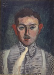 Milton Avery (American, 1885-1965). <em>Striped Shirt</em>, 1932. Oil on canvas, 22 x 16 in. (55.9 x 40.6 cm). Brooklyn Museum, Bequest of Ivor Green and Augusta Green, 1992.271.12. © artist or artist's estate (Photo: Brooklyn Museum, 1992.271.12.jpg)