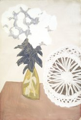 Sally Avery (American, 1902-2002). <em>White Blossoms, White Wheel</em>, 1971. Watercolor on paper Brooklyn Museum, Bequest of Ivor Green and Augusta Green, 1992.271.16. © artist or artist's estate (Photo: Brooklyn Museum, 1992.271.16_cropped_transpc003.jpg)