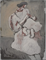 Milton Avery (American, 1885-1965). <em>Mother and Child</em>, 1932. Gouache on black paper, Sheet: 24 x 18 in. (61 x 45.7 cm). Brooklyn Museum, Bequest of Ivor Green and Augusta Green, 1992.271.8. © artist or artist's estate (Photo: , 1992.271.8_PS9.jpg)
