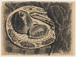 Milton Avery (American, 1885-1965). <em>Fruit</em>, n.d. Wax crayon on wove paper, Sheet: 9 x 12 1/16 in. (22.9 x 30.6 cm). Brooklyn Museum, Bequest of Ivor Green and Augusta Green, 1992.273.11. © artist or artist's estate (Photo: Brooklyn Museum, 1992.273.11_IMLS_PS3.jpg)