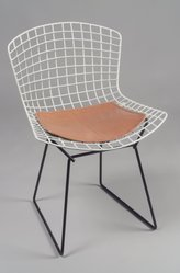 Harry Bertoia (American, born Italy, 1915-1978). <em>Side Chair, Model 420-2</em>, Designed 1952-53; this example manufactured 1959. Rubber-coated metal, metal, vinyl, 30 1/8 x 21 x 22 1/4 in. (76.5 x 53.3 x 56.5 cm). Brooklyn Museum, Bequest of William K. Jacobs, Jr., 1992.93.17. © artist or artist's estate (Photo: Brooklyn Museum, 1992.93.17.jpg)
