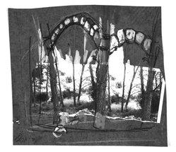 Yaacov Hefetz (Israeli, born 1928). <em>Border Drawing</em>, 1980s. Photograph, charcoal, and paint on paper, sheet: 8 3/8 x 9 1/8 in. (21.3 x 23.2 cm). Brooklyn Museum, Gift of Samuel B. Bacharach, 1993.127.7. © artist or artist's estate (Photo: Brooklyn Museum, 1993.127.7_bw.jpg)