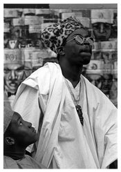 Bob Crawford (American). <em>Yoruba Man</em>, 1970. Gelatin silver photograph, image: 9 7/8 x 6 3/4 in. (25.1 x 17.1 cm). Brooklyn Museum, Purchased with funds given by the Horace W. Goldsmith Foundation, Mrs. Carl L. Selden, and Harry Kahn, and Designated Purchase Fund, 1993.139.2. © artist or artist's estate (Photo: Brooklyn Museum, 1993.139.2_bw.jpg)
