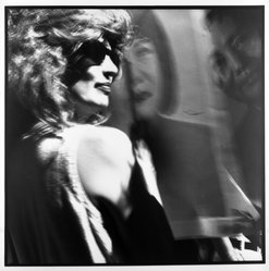 Bruce Cratsley (American, 1944-1998). <em>Drag Mao, Wigstock</em>, 1991. Gelatin silver photograph, image/sheet: 14 3/4 x 14 3/4 in. (37.5 x 37.5 cm). Brooklyn Museum, Gift of Mr. and Mrs. Gilbert Millstein, 1993.169.3. © artist or artist's estate (Photo: Brooklyn Museum, 1993.169.3_bw.jpg)
