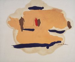 Helen Frankenthaler (American, 1928-2011). <em>Untitled</em>, 1963. Oil on paper, 14 x 17in. (35.6 x 43.2cm). Brooklyn Museum, Gift of Alexander Liberman, 1993.214.2. © artist or artist's estate (Photo: Brooklyn Museum, 1993.214.2_transpc003.jpg)