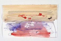 Helen Frankenthaler (American, 1928-2011). <em>Covent Garden Study</em>, 1984. Acrylic and crayon on paper, 17 9/16 x 29in. (44.6 x 73.7cm). Brooklyn Museum, Gift of Alexander Liberman, 1993.214.5. © artist or artist's estate (Photo: Brooklyn Museum, 1993.214.5_transpc002.jpg)