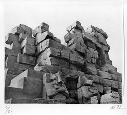 Bryan Hunt (American, born 1947). <em>Untitled, 1 of 11 Prints from Temple Ruins Portfolio</em>, 1992. Photogravure, Sheet: 16 x 17 in. (40.6 x 43.2 cm). Brooklyn Museum, Emily Winthrop Miles Fund, 1993.48.10. © artist or artist's estate (Photo: Brooklyn Museum, 1993.48.10_bw.jpg)