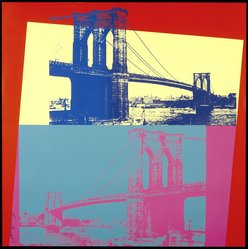 Andy Warhol (American, 1928-1987). <em>Brooklyn Bridge</em>, 1983. Screenprint on board, 39 1/4 x 39 1/4 in. (99.7 x 99.7cm). Brooklyn Museum, Gift of The Fund for the Borough of Brooklyn, 1993.9. © artist or artist's estate (Photo: Brooklyn Museum, 1993.9_SL1.jpg)