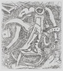 Elizabeth Murray (American, 1940-2007). <em>Toe Two</em>, 1994. Etching on paper, sheet: 15 7/8 x 14 3/8 in. Brooklyn Museum, Gift of Mrs. Marshall Cogan, 1994.213. © artist or artist's estate (Photo: Brooklyn Museum, 1994.213_PS4.jpg)