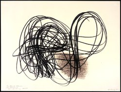 Hans Hartung (French, born Germany, 1904-1989). <em>Untitled</em>, 1958. Monotype, 19 3/4 x 25 1/2 in. Brooklyn Museum, Gift of Alexander Liberman, 1994.215.2. © artist or artist's estate (Photo: Brooklyn Museum, 1994.215.2.jpg)