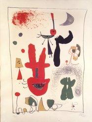 Joan Miró (Spanish, 1893-1983). <em>Acrobats in the Night Garden</em>, 1948. Lithograph, Sheet: 25 5/8 x 19 3/4 in. (65.1 x 50.2 cm). Brooklyn Museum, Gift of Alexander Liberman, 1994.215.4. © artist or artist's estate (Photo: Brooklyn Museum, 1994.215.4_transpc001.jpg)
