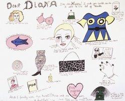 Niki de Saint Phalle (French, 1930-2002). <em>Dear Diana</em>, 1969. Lithograph, 19 1/4 x 24 in. Brooklyn Museum, Gift of Alexander Liberman, 1994.215.6. © artist or artist's estate (Photo: Brooklyn Museum, 1994.215.6_transpc001.jpg)