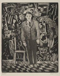 Roberto Gil de Montes. <em>Untitled</em>, 1992. Etching and aquatint on cream wove paper, sheet: 14 3/4 x 18 in. (37.6 x 46.0 cm). Brooklyn Museum, Emily Winthrop Miles Fund, 1994.25.3. © artist or artist's estate (Photo: Brooklyn Museum, 1994.25.3_PS4.jpg)