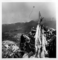 Bastienne Schmidt. <em>Woman Mourning the Anniversary of the Death of her Sister, from the series Day of the Dead (Vivir La Muerte)</em>, 1993. Gelatin silver photograph, sheet: 20 x 16 in. Brooklyn Museum, Purchased with funds given by the Horace W. Goldsmith Foundation, Ardian Gill and the Coler Foundation, 1995.163.1. © artist or artist's estate (Photo: Brooklyn Museum, 1995.163.1_bw.jpg)