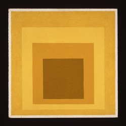 "Josef Albers (American, 1888-1976). <em>Study for Homage to the Square ""High Tenor,""</em> 1959. Oil on masonite, 18 x 18in. (45.7 x 45.7cm). Brooklyn Museum, Gift of The Josef and Anni Albers Foundation, 1995.197.2. © artist or artist's estate (Photo: Brooklyn Museum, 1995.197.2_SL1.jpg)"
