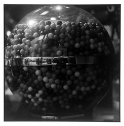 Bruce Cratsley (American, 1944-1998). <em>Gumballs Soho</em>, 1994. Selenium-toned gelatin silver photograph, image: 9 1/2 x 9 1/4 in. (24.1 x 23.5 cm). Brooklyn Museum, Gift of Jonathan L. Fagin, 1995.207.11. © artist or artist's estate (Photo: Brooklyn Museum, 1995.207.11_bw.jpg)