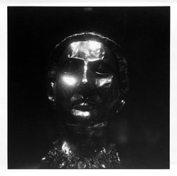 Bruce Cratsley (American, 1944-1998). <em>Medieval Mask of Gold, Metropolitan Museum</em>, 1994. Selenium-toned gelatin silver photograph, image: 9 1/2 x 9 1/4 in. (24.1 x 23.5 cm). Brooklyn Museum, Gift of Jonathan L. Fagin, 1995.207.4. © artist or artist's estate (Photo: Brooklyn Museum, 1995.207.4_bw.jpg)