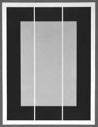 Donald Judd (American, 1928-1994). <em>Untitled</em>, 1994. Woodcut, 23 5/16 x 31 5/16 in. (59.2 x 79.6 cm). Brooklyn Museum, Alfred T. White Fund, 1995.67.1. © artist or artist's estate (Photo: Brooklyn Museum, 1995.67.1_bw.jpg)