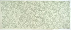 Kate Faulkner (British, 1841-1898). <em>Wallpaper, Mallow pattern</em>, 20th century. Block printed wallpaper, 57 x 22 1/2 in. (144.8 x 57.1 cm). Brooklyn Museum, Gift of Catherine Kurland and Lori Zabar, 1996.139.7. © artist or artist's estate (Photo: Brooklyn Museum, 1996.139.7_PS1.jpg)