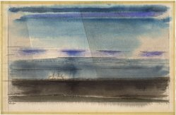 Lyonel Feininger (American, 1871-1956). <em>Clouds Over the Baltic</em>, 1947. Watercolor and black ink over charcoal, Sheet: 12 3/8 x 18 7/8 in. (31.5 x 48 cm). Brooklyn Museum, Bequest of Mrs. Carl L. Selden, 1996.150.11. © artist or artist's estate (Photo: Brooklyn Museum, 1996.150.11_SL1.jpg)