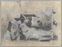 Walter Tandy Murch (American, born Canada, 1907-1967). <em>Study for the Lock</em>, n.d. Watercolor and graphite on paper, sheet: 17 9/16 x 22 7/8 in. (44.6 x 58.1 cm). Brooklyn Museum, Bequest of Mrs. Carl L. Selden, 1996.157.27. © artist or artist's estate (Photo: Brooklyn Museum, 1996.157.27_PS4.jpg)