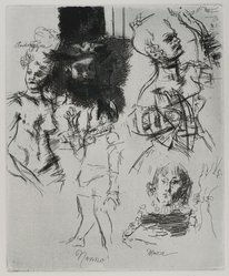 Jack Levine (American, 1915-2010). <em>Volpone III</em>, 1965. Etching, Image: 9 3/4 x 8 in. (24.8 x 20.3 cm). Brooklyn Museum, Gift of Peter R. Blum, 1996.223.18. © artist or artist's estate (Photo: Brooklyn Museum, 1996.223.18_PS4.jpg)