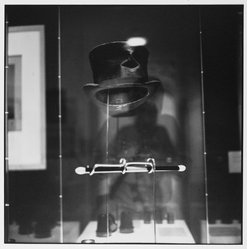 Bruce Cratsley (American, 1944-1998). <em>Hat and Wand of Houdini, the Louvre Museum</em>, 1995. Gelatin silver photograph, image/sheet: 9 5/8 x 9 5/8 in. (24.4 x 24.4 cm). Brooklyn Museum, Gift of Jonathan L. Fagin, 1996.239.1. © artist or artist's estate (Photo: Brooklyn Museum, 1996.239.1_PS2.jpg)