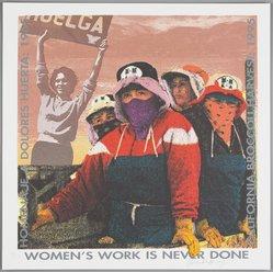 Yolanda M. López (American, born 1942). <em>Woman's Work is Never Done, from 10 x 10 Portfolio</em>, 1995. Screenprint, sheet: 21 15/16 × 22 1/16 in. (55.7 × 56 cm). Brooklyn Museum, Alfred T. White Fund, 1996.46.6. © artist or artist's estate (Photo: , 1996.46.6_PS9.jpg)