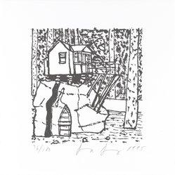 Donna  Denis (American, born 1942). <em>[Untitled]</em>, 1995. Letterpress on paper, sheet: 6 x 6 in. (15.2 x 15.2 cm). Brooklyn Museum, Alfred T. White Fund, 1996.51.6. © artist or artist's estate (Photo: Brooklyn Museum, 1996.51.6_PS4.jpg)
