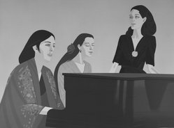 Alex Katz (American, born 1927). <em>Song</em>, 1980-1981. Lithograph in 17 colors, 33 x 43 13/16 in. (83.8 x 111.3 cm). Brooklyn Museum, Gift of the artist, 1996.97.10. © artist or artist's estate (Photo: Brooklyn Museum, 1996.97.10_bw.jpg)