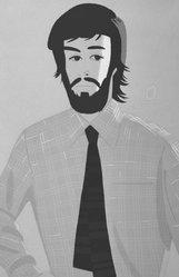 Alex Katz (American, born 1927). <em>Plaid Shirt in Pink II (gray)</em>, 1981. Silkscreen, 46 15/16 x 30 5/8 in. (119.2 x 77.7 cm). Brooklyn Museum, Gift of the artist, 1996.97.12. © artist or artist's estate (Photo: Brooklyn Museum, 1996.97.12_bw.jpg)