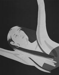 Alex Katz (American, born 1927). <em>Night I: William Dunas Dance I</em>, 1983. Silkscreen, 25 x 31 3/16 in. (63.5 x 79.3 cm). Brooklyn Museum, Gift of the artist, 1996.97.13. © artist or artist's estate (Photo: Brooklyn Museum, 1996.97.13_bw.jpg)