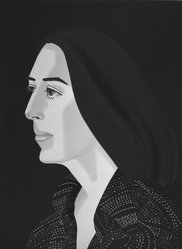 Alex Katz (American, born 1927). <em>Ada Four Times</em>, 1979-1980. Screenprint and lithograph in 10 colors, 30 1/16 x 22 15/16 in. (76.4 x 56.8 cm). Brooklyn Museum, Gift of the artist, 1996.97.1. © artist or artist's estate (Photo: Brooklyn Museum, 1996.97.1_bw.jpg)