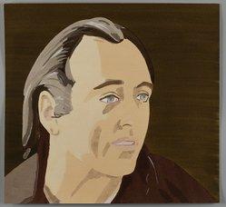 Alex Katz (American, born 1927). <em>Al Held</em>, 1976. Pochoir (stencil) in 29 colors, 15 3/8 x 16 1/2 in. (39.0 x 41.9 cm). Brooklyn Museum, Gift of the artist, 1996.97.33. © artist or artist's estate (Photo: Brooklyn Museum, 1996.97.33_PS4.jpg)