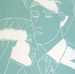 Alex Katz (American, born 1927). <em>A Tremor in the Morning: Kriti, Vincent</em>, 1986. Woodcut in color, Sheet: 20 1/4 x 19 3/4 in. (51.4 x 50.2 cm). Brooklyn Museum, Gift of the artist, 1996.97.37. © artist or artist's estate (Photo: Brooklyn Museum, 1996.97.37.jpg)