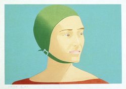 Alex Katz (American, born 1927). <em>The Green Cap</em>, 1985. Woodcut on Tosa Kozo paper, 17 3/8 x 24 3/16 in. (44.3 x 61.7 cm). Brooklyn Museum, Gift of the artist, 1996.97.46. © artist or artist's estate (Photo: Brooklyn Museum, 1996.97.46_SL1.jpg)
