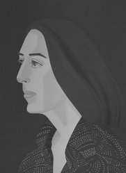 Alex Katz (American, born 1927). <em>Ada Four Times</em>, 1979-1980. Screenprint and lithograph in 10 colors, 30 1/16 x 22 15/16 in. (76.4 x 56.8 cm). Brooklyn Museum, Gift of the artist, 1996.97.4. © artist or artist's estate (Photo: Brooklyn Museum, 1996.97.4_bw.jpg)