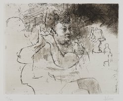 Jack Levine (American, 1915-2010). <em>Boudoir</em>, 1968. Etching and drypoint on Arches paper, Plate: 7 3/4 x 9 3/4 in. (19.7 x 24.8 cm). Brooklyn Museum, Gift of Peter Blum, 1997.194.11. © artist or artist's estate (Photo: Brooklyn Museum, 1997.194.11_PS4.jpg)