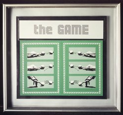 Laura Grisi. <em>The Game</em>, 1990-1991. Silkscreen on forex and aluminum, 12 x 12 1/2 in.  (30.5 x 31.8 cm). Brooklyn Museum, Gift of Estelle Schwartz, 1998.103. © artist or artist's estate (Photo: Brooklyn Museum, 1998.103_transpc004.jpg)