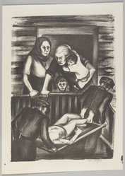 Riva Helfond (American, 1910-2002). <em>Homecoming</em>, 1936/1939. Lithograph on paper, Sheet: 17 13/16 x 12 3/4 in. (45.2 x 32.4 cm). Brooklyn Museum, Purchase gift of The Richard Florsheim Art Fund, 1998.158.2. © artist or artist's estate (Photo: Brooklyn Museum, 1998.158.2_PS9.jpg)