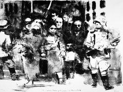 Jack Levine (American, 1915-2010). <em>The General</em>, 1962-1963. Etching, aquatint, Image: 14 3/4 x 17 1/2 in. (37.5 x 44.5 cm). Brooklyn Museum, Gift of Peter R. Blum, 1998.191.4. © artist or artist's estate (Photo: Brooklyn Museum, 1998.191.4_bw.jpg)