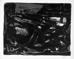 Selim Turan (Turkish, 1915-1994). <em>Untitled</em>, ca. 1953. Lithograph on paper, sheet: 12 7/8 x 15 3/4 in. (32.7 x 40 cm). Brooklyn Museum, Gift of Philip Gould, 1998.192.11. © artist or artist's estate (Photo: Brooklyn Museum, 1998.192.11_bw.jpg)