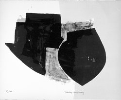 Manolis Calliyannis (Greek, born 1926). <em>Untitled</em>, 1953. Lithograph on paper, sheet: 12 7/8 x 15 13/16 in. (32.7 x 40.2 cm). Brooklyn Museum, Gift of Philip Gould, 1998.192.1. © artist or artist's estate (Photo: Brooklyn Museum, 1998.192.1_bw.jpg)