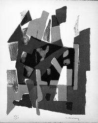 Georges Carrey (French, 1902-1953). <em>Untitled</em>, 1953. Lithograph on paper, sheet: 15 13/16 x 12 7/8 in. (40.2 x 32.7 cm). Brooklyn Museum, Gift of Philip Gould, 1998.192.2. © artist or artist's estate (Photo: Brooklyn Museum, 1998.192.2_bw.jpg)
