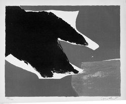 Constant (Constant Anton Nieuwenhuys) (Dutch, 1920-2005). <em>Untitled</em>, 1953. Lithograph on paper, sheet: 12 7/8 x 15 3/4 in. (32.7 x 40 cm). Brooklyn Museum, Gift of Philip Gould, 1998.192.3. © artist or artist's estate (Photo: Brooklyn Museum, 1998.192.3_bw.jpg)