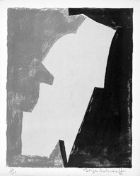 Serge Poliakoff (French, 1900-1969). <em>Untitled</em>, 1953. Lithograph on paper, sheet: 15 3/4 x 12 7/8 in. (40 x 32.7 cm). Brooklyn Museum, Gift of Philip Gould, 1998.192.8. © artist or artist's estate (Photo: Brooklyn Museum, 1998.192.8_bw.jpg)