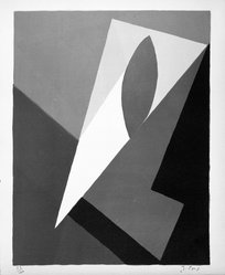 Jean Pons (French, 1913-2005). <em>Untitled</em>, 1953. Lithograph on paper, sheet: 15 3/4 x 12 15/16 in. (40 x 32.9 cm). Brooklyn Museum, Gift of Philip Gould, 1998.192.9. © artist or artist's estate (Photo: Brooklyn Museum, 1998.192.9_bw.jpg)
